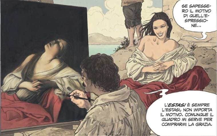Arte a fumetti, Milo Manara racconta Caravaggio. In tutte le librerie la graphic novel dedicata al Merisi