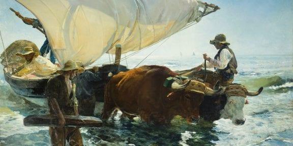 Joaquín Sorolla, The Return from Fishing, 1894 Oil on canvas, 265 × 403.5 cm Paris, musée d'Orsay © Musée d'Orsay, Dist. RMN-Grand Palais / Patrice Schmidt