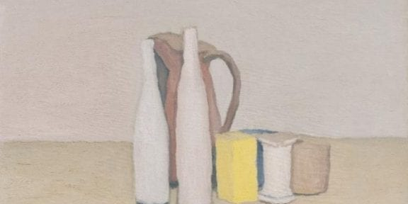 Thinking Italian MilanGIORGIO MORANDI (1890-1964) Natura morta Oil on canvas, 40x52cm Executed in 1952 Estimate: €700,000–1,000,000