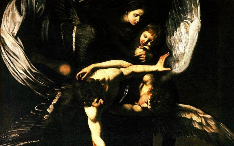 Un particolare de Le sette opere di Misericordia, di Caravaggio