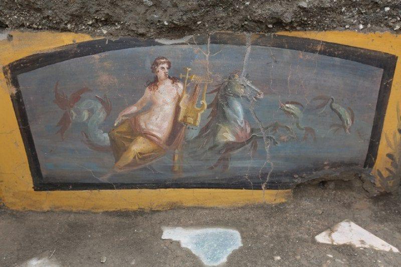 Affreschi che decoravano il bancone Immagine © Parco Archeologico Pompei