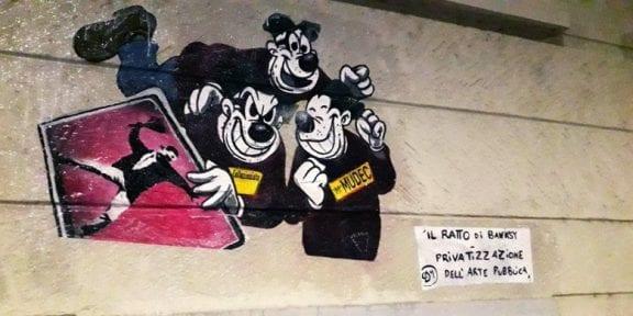 """Il ratto dei Banksy - la privatizzazione dell'arte pubblica"""" Mudec di Milano 10 Gennaio 2019"""