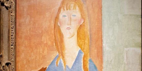 Amedeo Modigliani, Giovane ragazza in blu, 1919 da Hammer