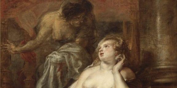 Peter Paul Rubens, dettaglio di Deyanira tentata dalla Furia
