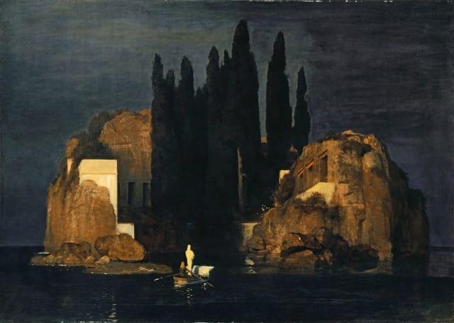 Arnold Böcklin; Die Toteninsel (Erste Fassung); 1880