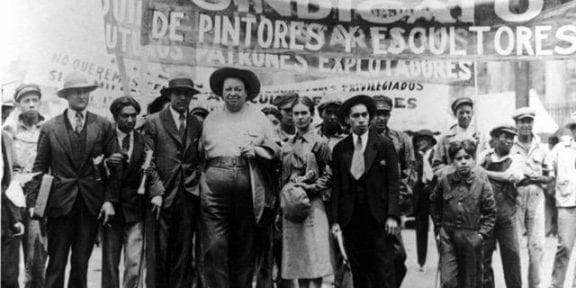 Frida Kahlo e Diego Rivera alla manifestazione del primo maggio, Tina Modotti Jesi 2019