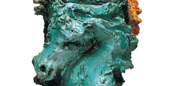 Lot 16 Lucio Fontana TESTE DI CAVALLO ceramica smaltata policroma cm 44x44x40 1948 EST € 180.000 - 250.000