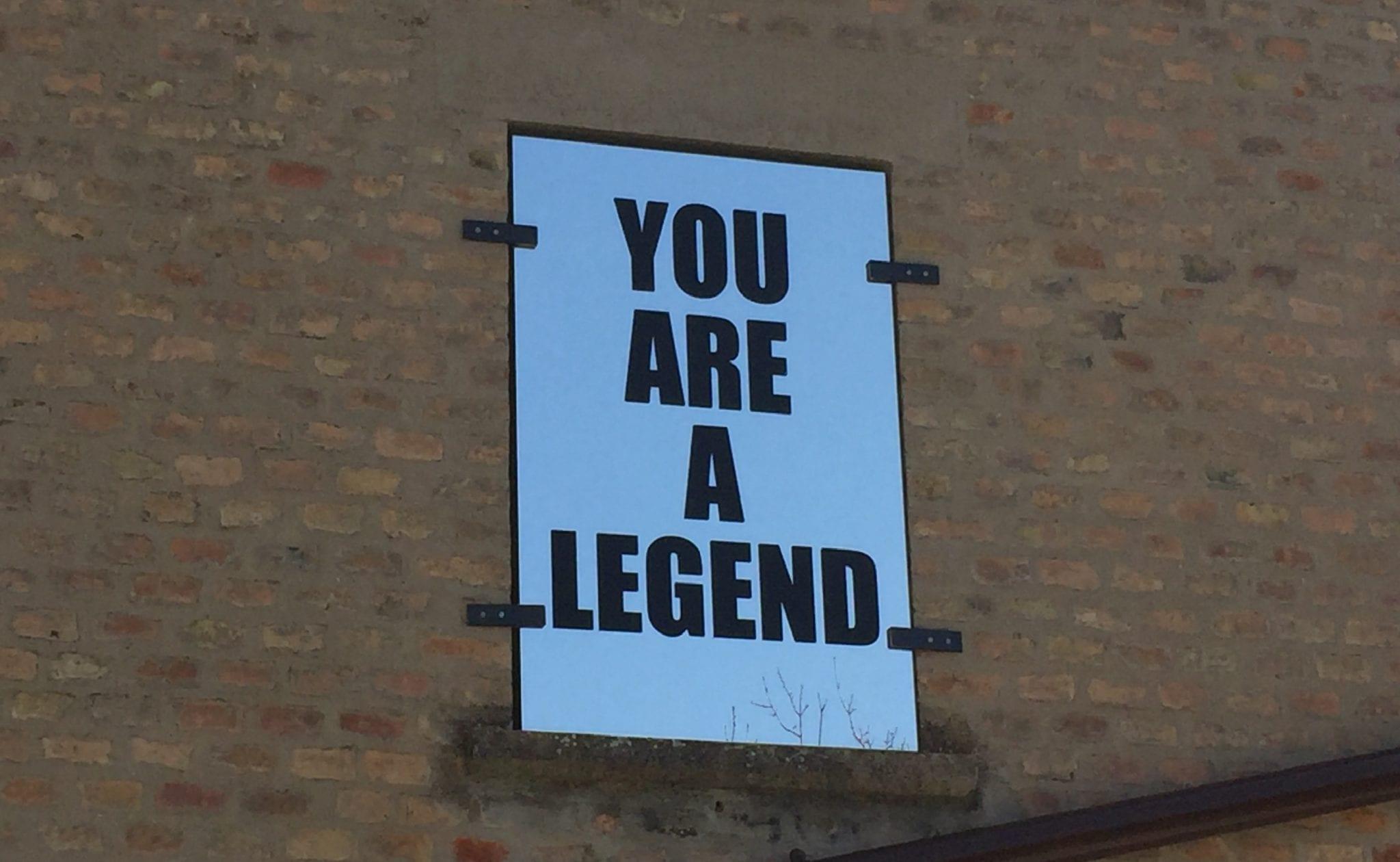 You are a legend. Immagini dell'installazione di Mario Consiglio al centro d'arte Casa Sponge