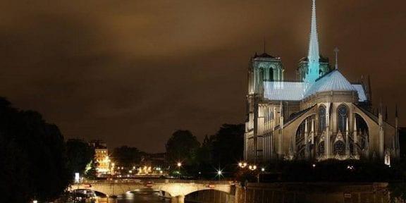 rendering ricostruzione tetto e guglia Notre-Dame