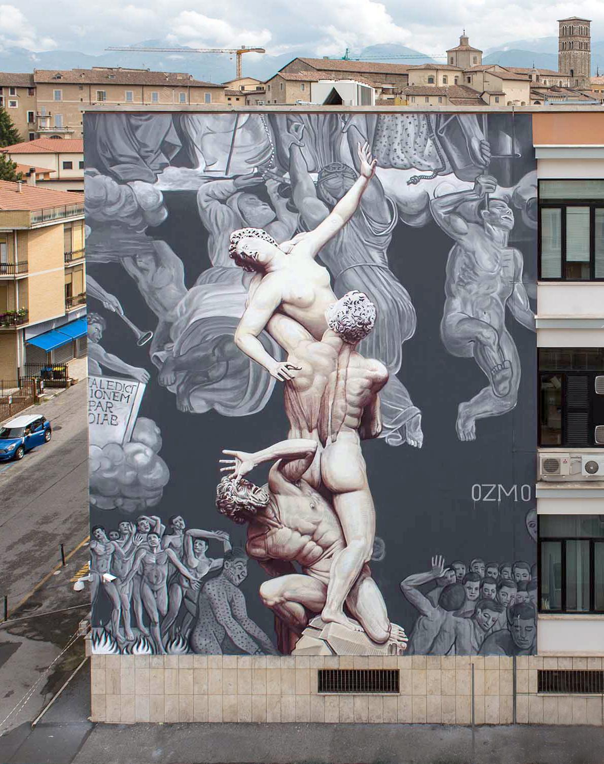 L'ineluttabilità del giudizio secondo Ozmo. Rieti apre alla Street Art