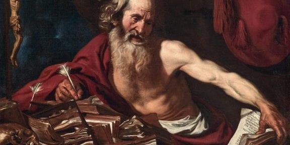 oost Van de Hamme (Bruxelles c. 1630 - c.1657) San Girolamo, olio su tela, 85 x 118 cm, prezzo realizzato € 320.200 RECORD MONDIALE