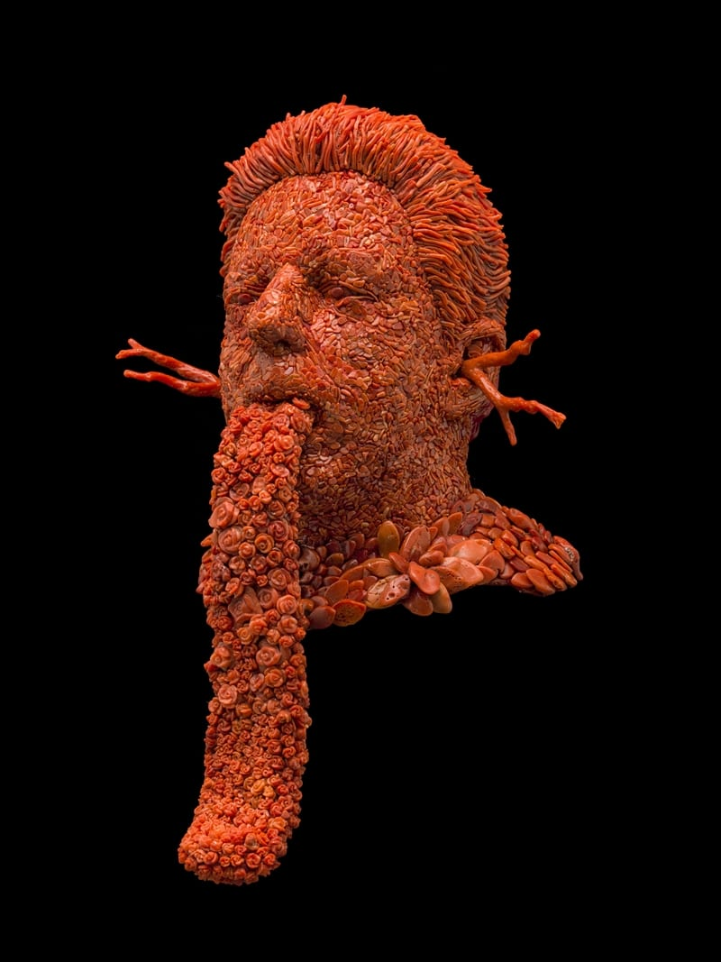Jan Fabre, Self-portrait with the Tongue of Love
