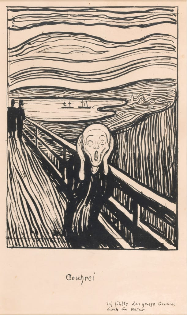 Edvard Munch, The Scream 1895, Private Collection, Norway. Photo Thomas Widerberg