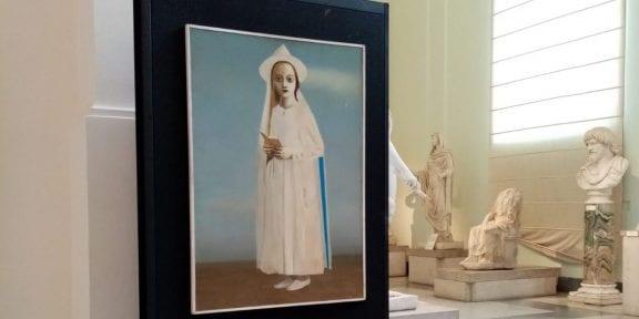 Immagini della mostra al Museo Archeologico di Napoli in occasione del convegno Unesco