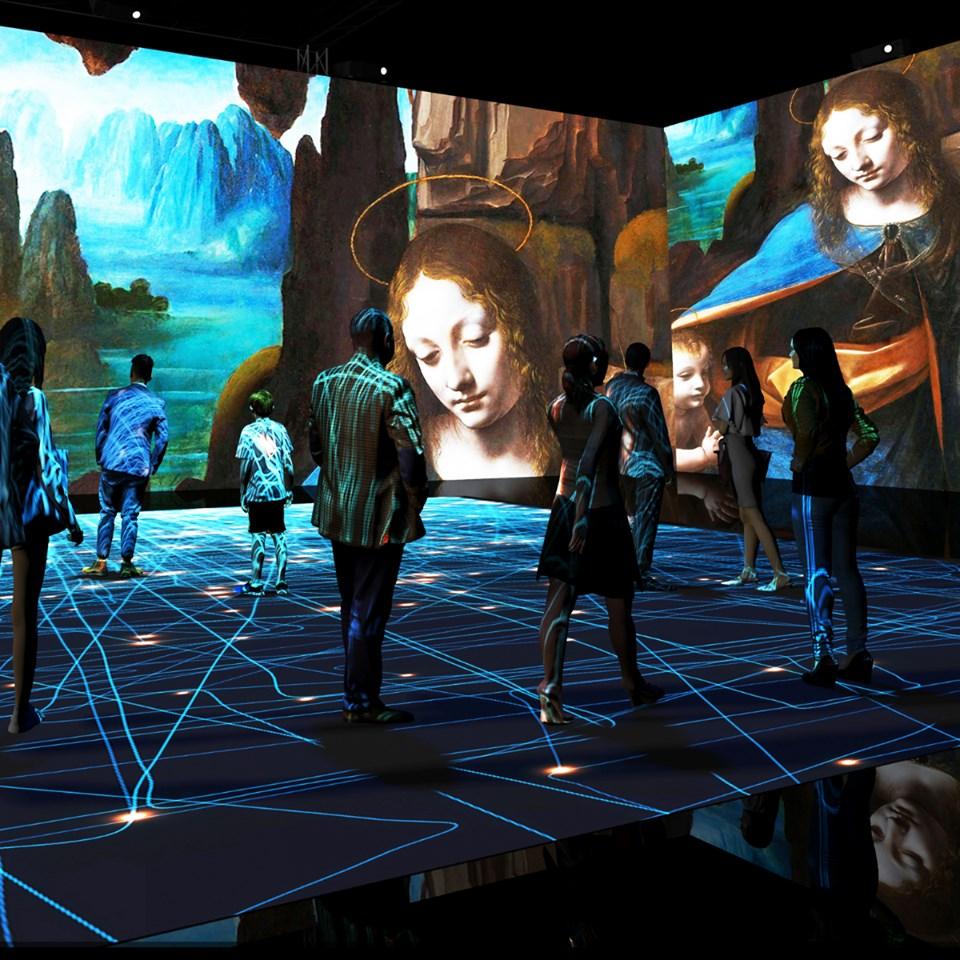 Immergersi nell'intero universo di Leonardo grazie alle ultime tecnologie digitali, a Milano