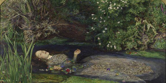 John Everett Millais (1829-1896) Ofelia, 1851-52 Olio su tela, cm 76,2 x 111,8 Tate: Presented by Sir Henry Tate 1894 ©Tate, London 2019