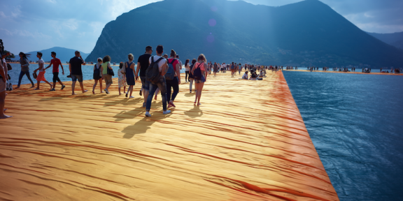 CHRISTO – WALKING ON WATER Il documentario sulla realizzazione della grande opera sul lago d'Iseo