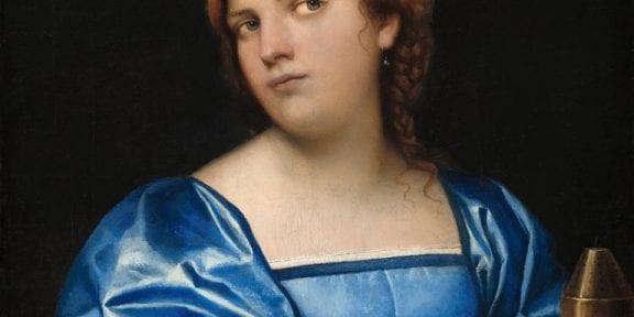 Sebastiano del Piombo, Woman in Blue with Incense Burner
