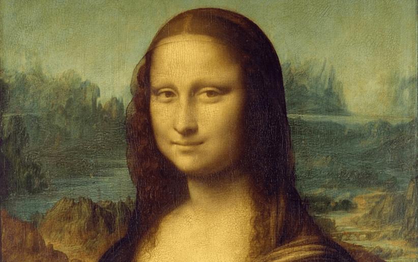 Un particolare della Gioconda di Leonardo