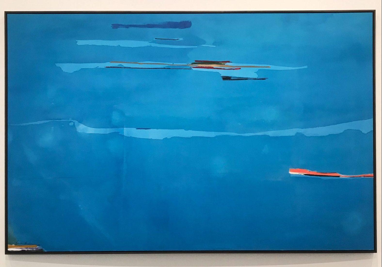 Storie di pittura e di acqua. Sea Change, la pittura di Helen Frankenthaler in mostra a Roma