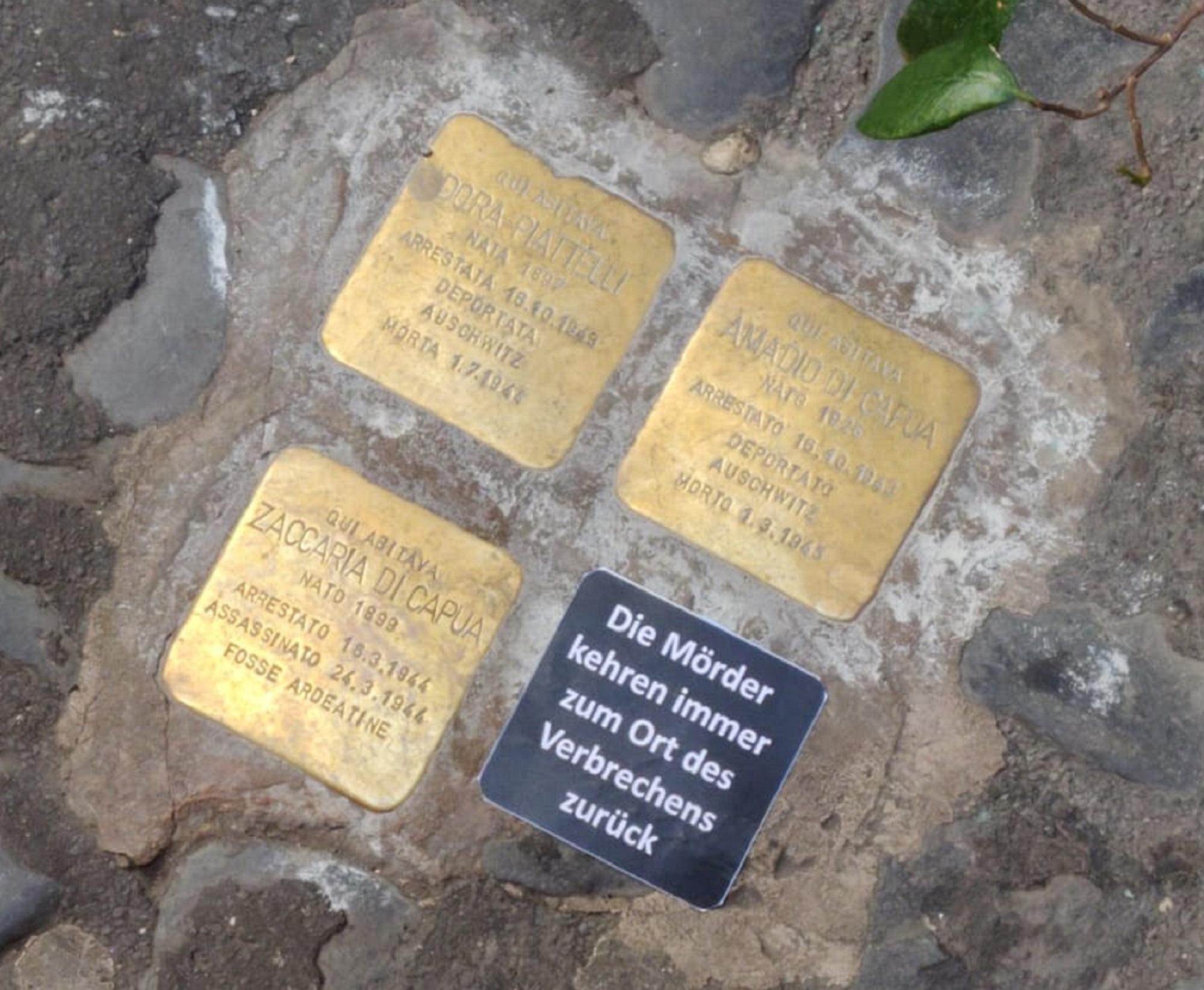 'L'assassino torna sempre sul luogo del delitto'. Grave atto vandalico su una pietra d'inciampo a Roma