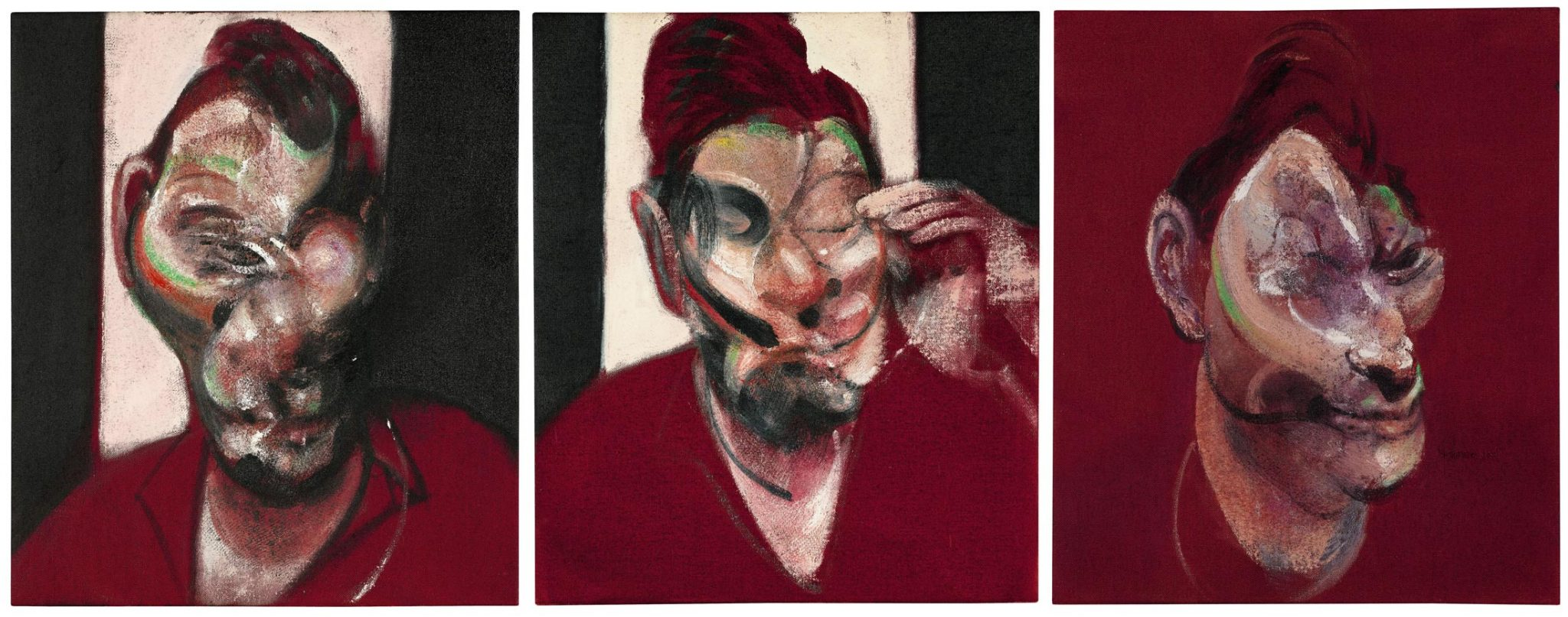 Francis Bacon, Three Studies for a portrait of Lucian Freud, 1965