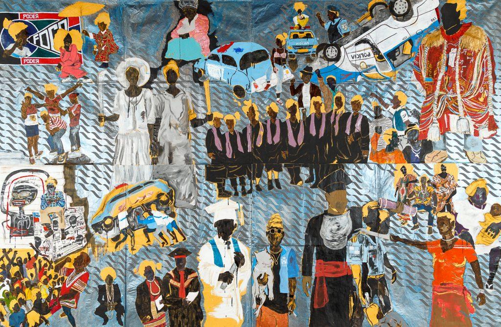 """Pittura murale e musica rap. La """"poetica urbana"""" di Maxwell Alexandre a Lione"""