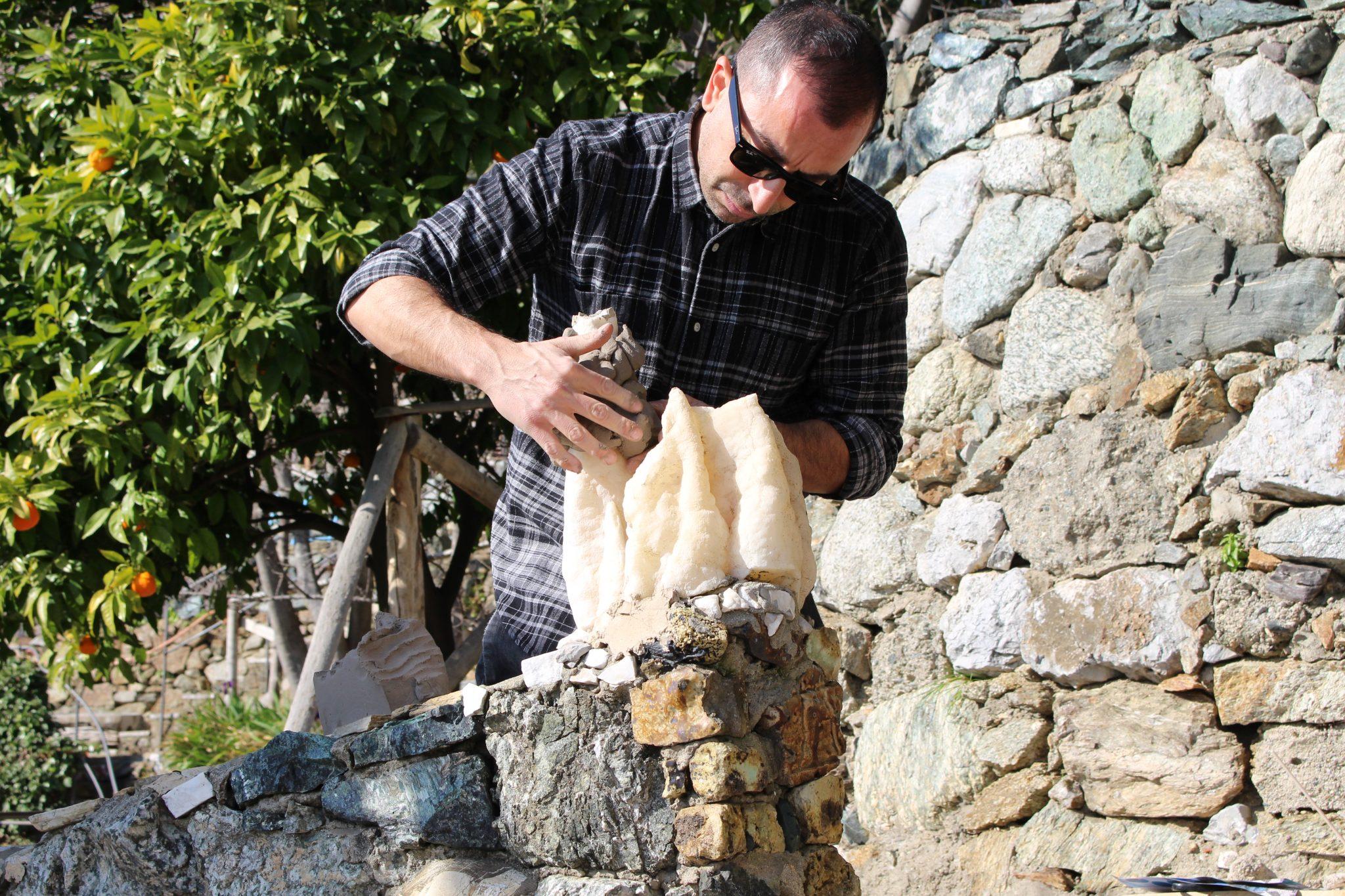 Salvatore Arancio work in progress Casa Museo Jorn 2019_Ph Jacopo Fanciulli