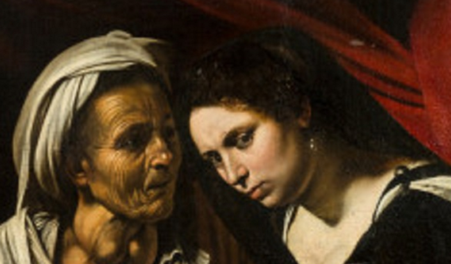 Un particolare della Giuditta che decapita Oloferne, l'opera attribuita a Caravaggio a Tolosa