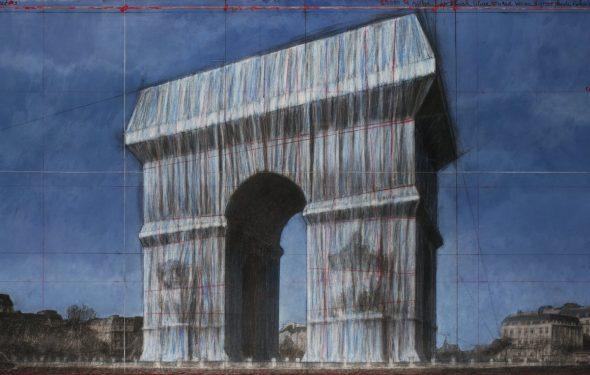 Christo, Progetto per l'Arco di Trionfo, Parigi