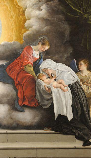 Orazio Gentileschi, Madonna con Bambino e Santa Francesca Romana, Galleria Nazionale delle Marche, Urbino