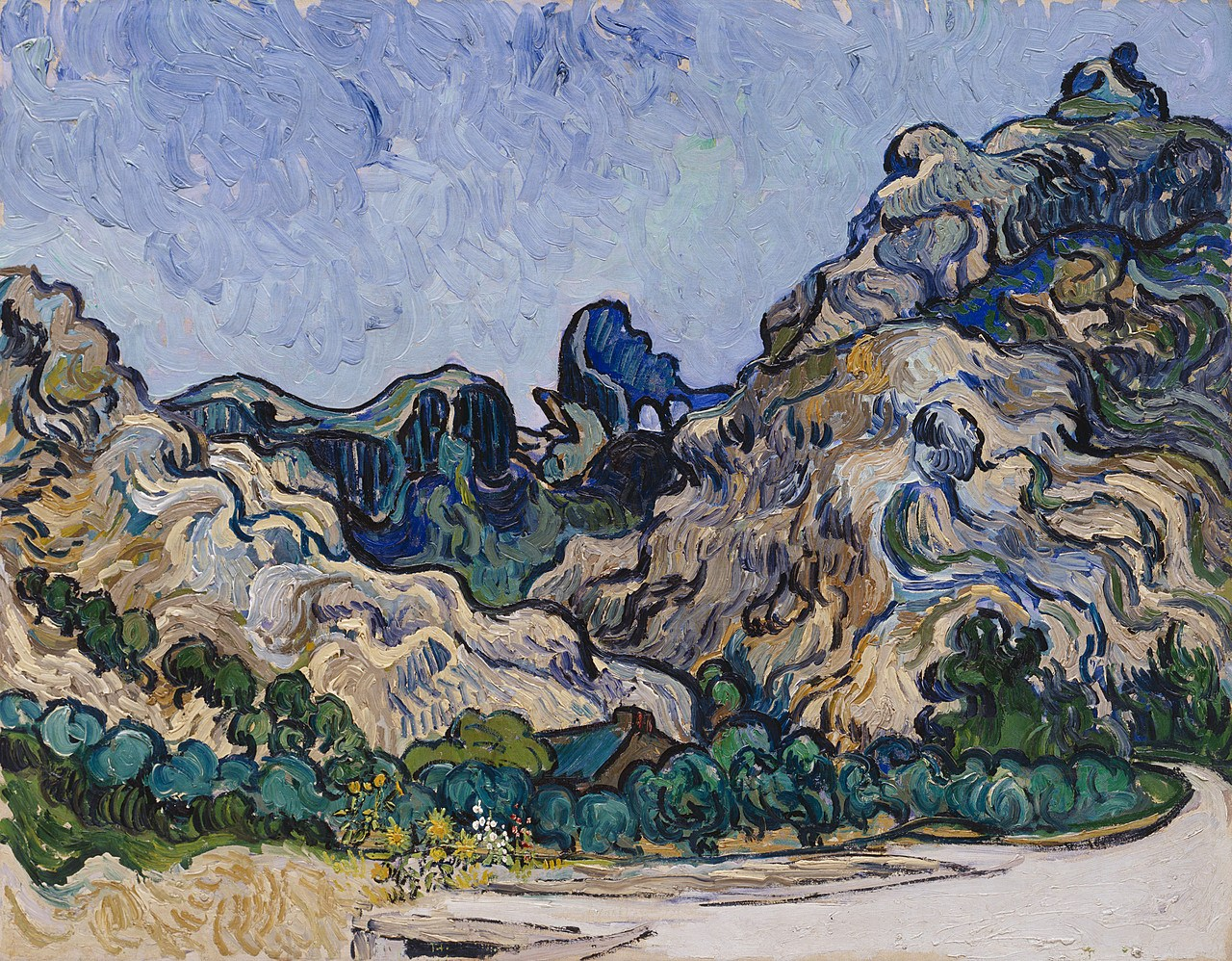 Vincent Van Gogh, Montagne a Saint-Rémy, Saint-Rémy-de-Provence