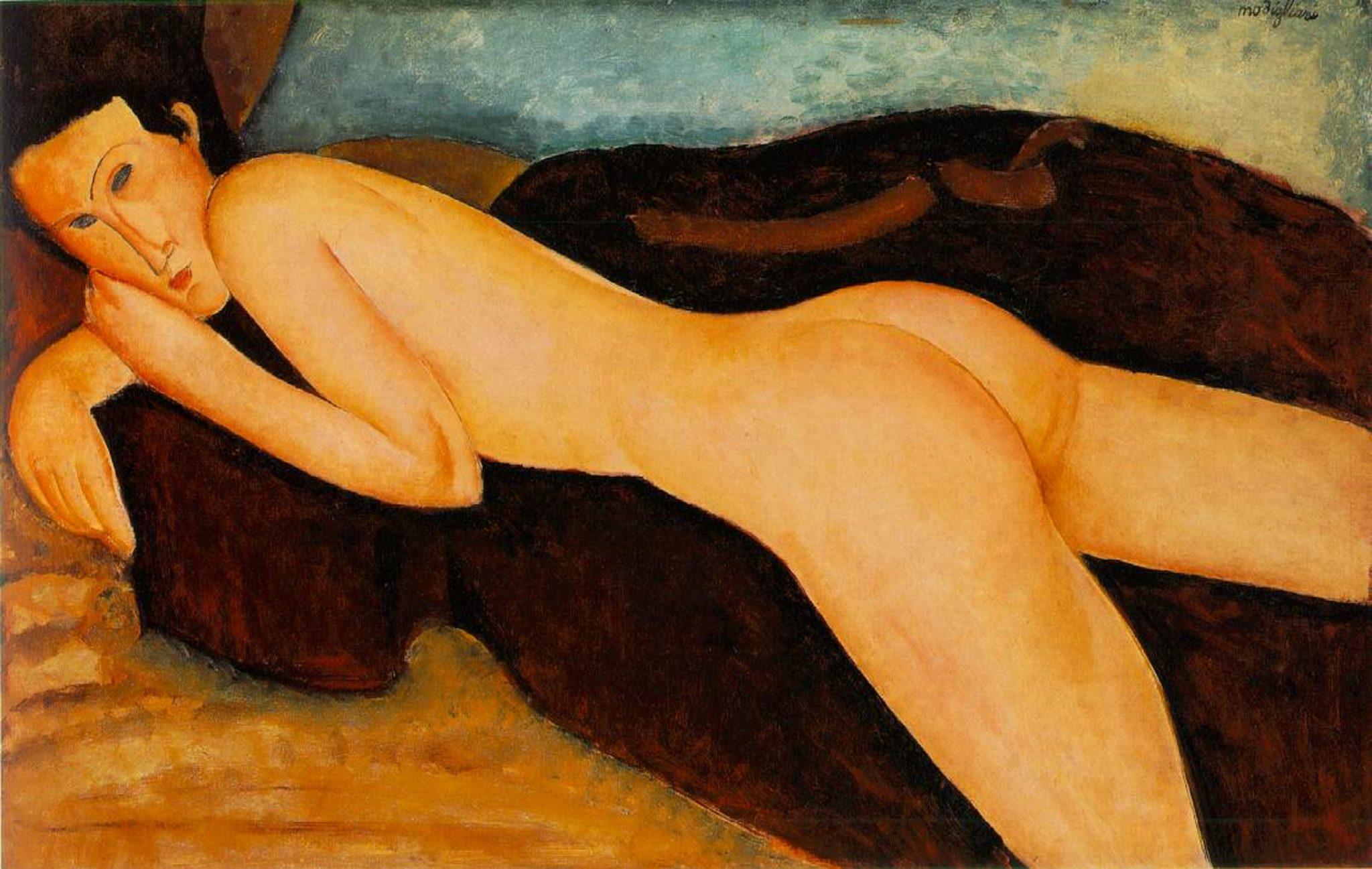 Amedeo Modigliani, Nu couché de dos