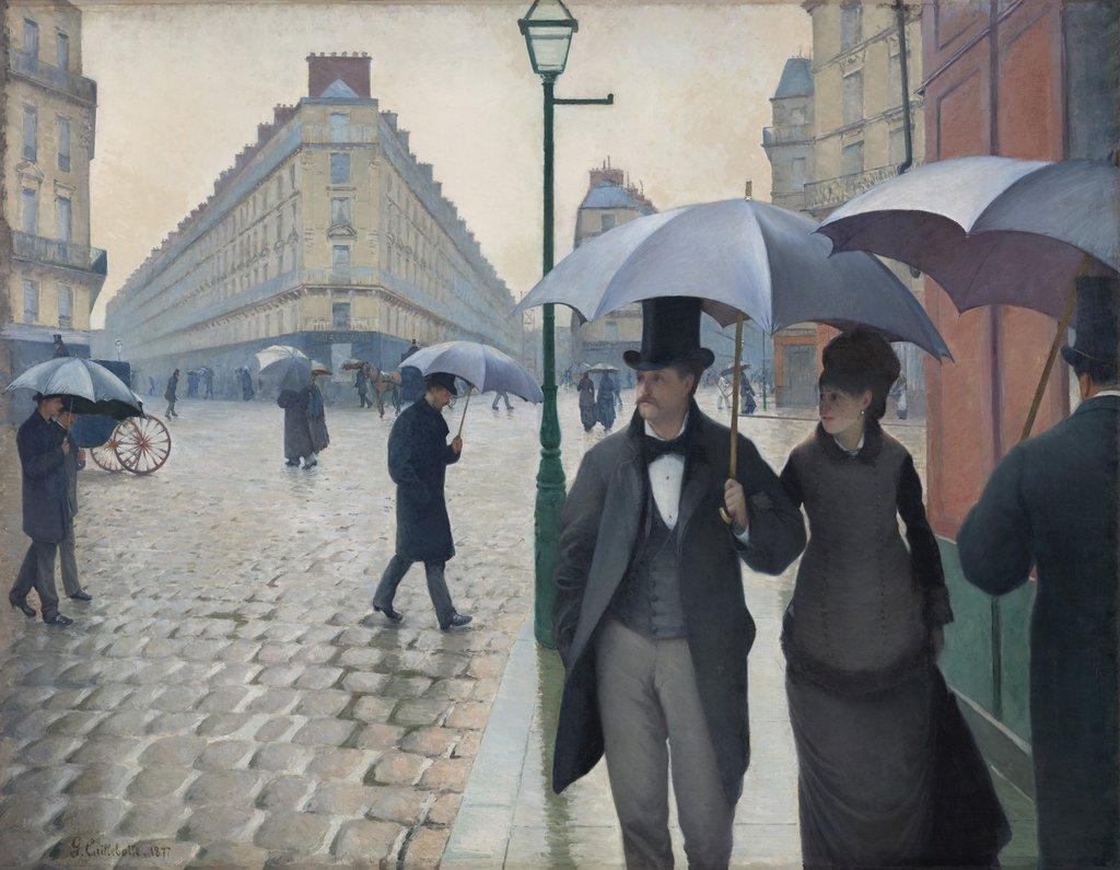 Gustave Caillebotte, Paris Street; Rainy Day, 1877