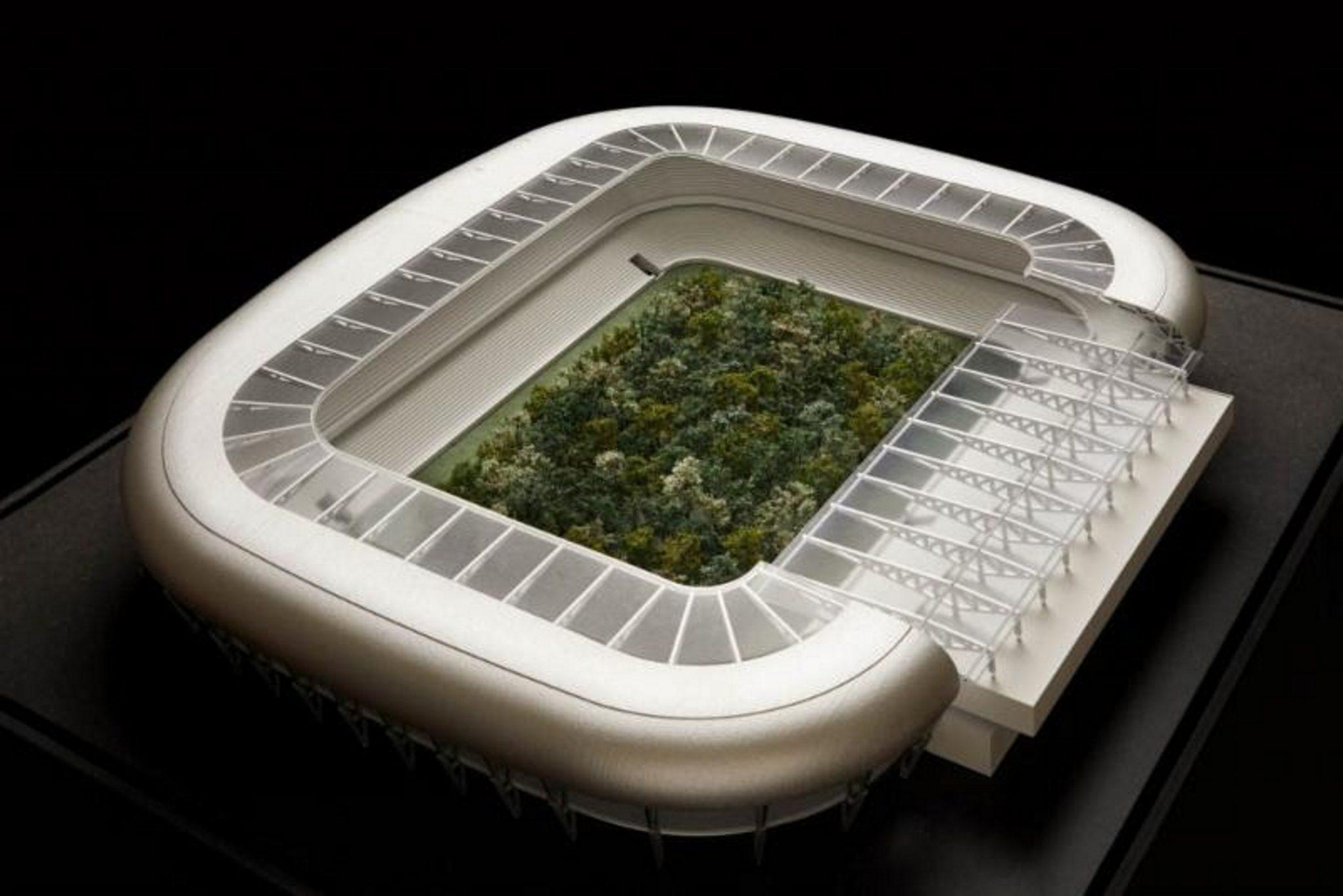 Una foresta dentro a uno stadio. Ecco la più grande installazione artistica pubblica dell'Austria