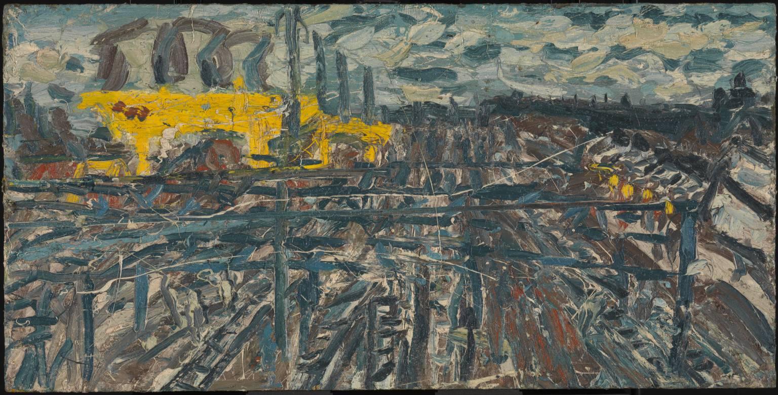 Leon Kossoff, Willesden Junction, Morning in October, 1971, Londra, Tate Modern