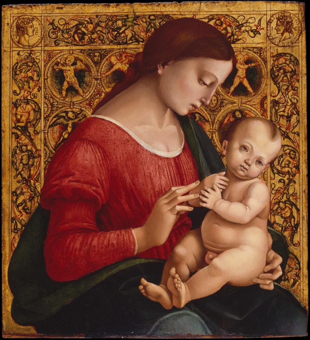 Luca Signorelli, Madonna col Bambino, 1505-1507, olio e tempera su tavola, New York, Metropolitan Museum of Art