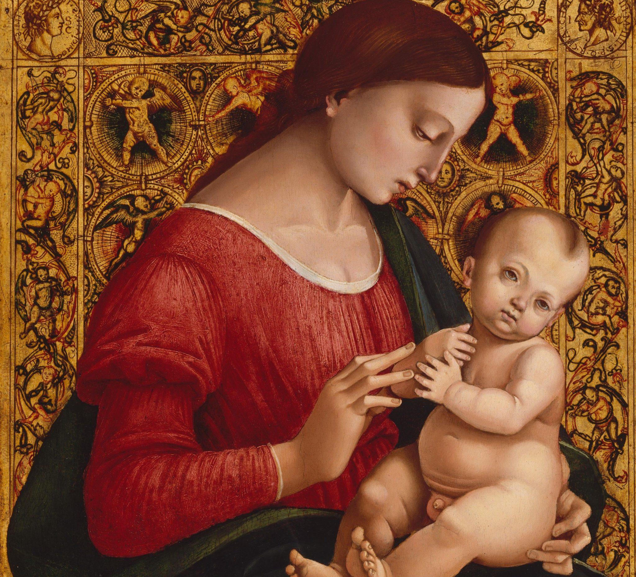 Madonna con il bambino in un dipinto di Signorelli