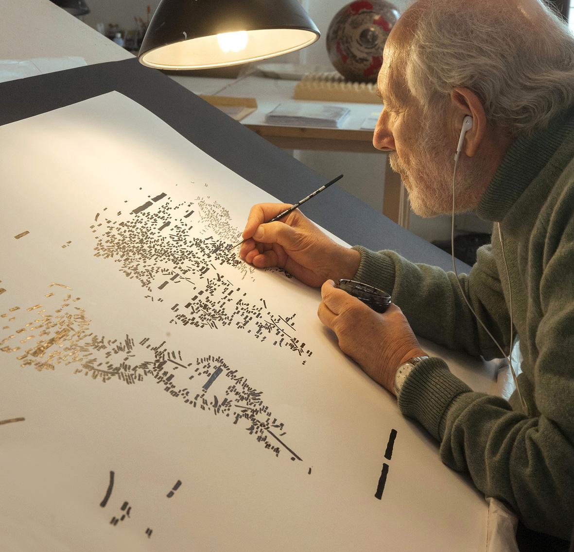 Ritratto di Emilio Isgrò, marzo 2019 (Foto di Andrea Valentini).
