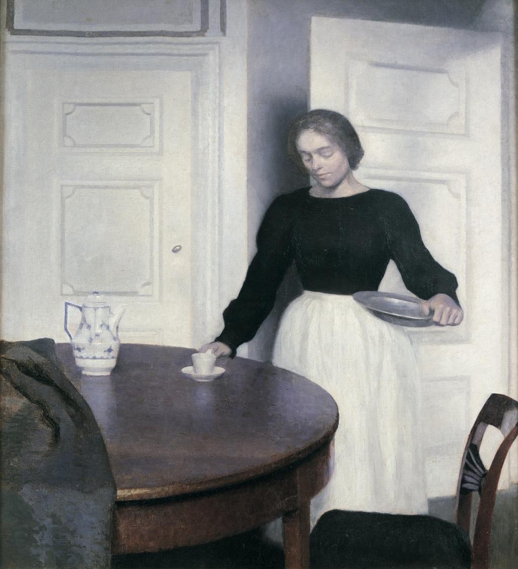 Vilhelm Hammershøi, Interno, Strandgade 30, 1899. Ambassador John L. Loeb Jr. Danish Art Collection