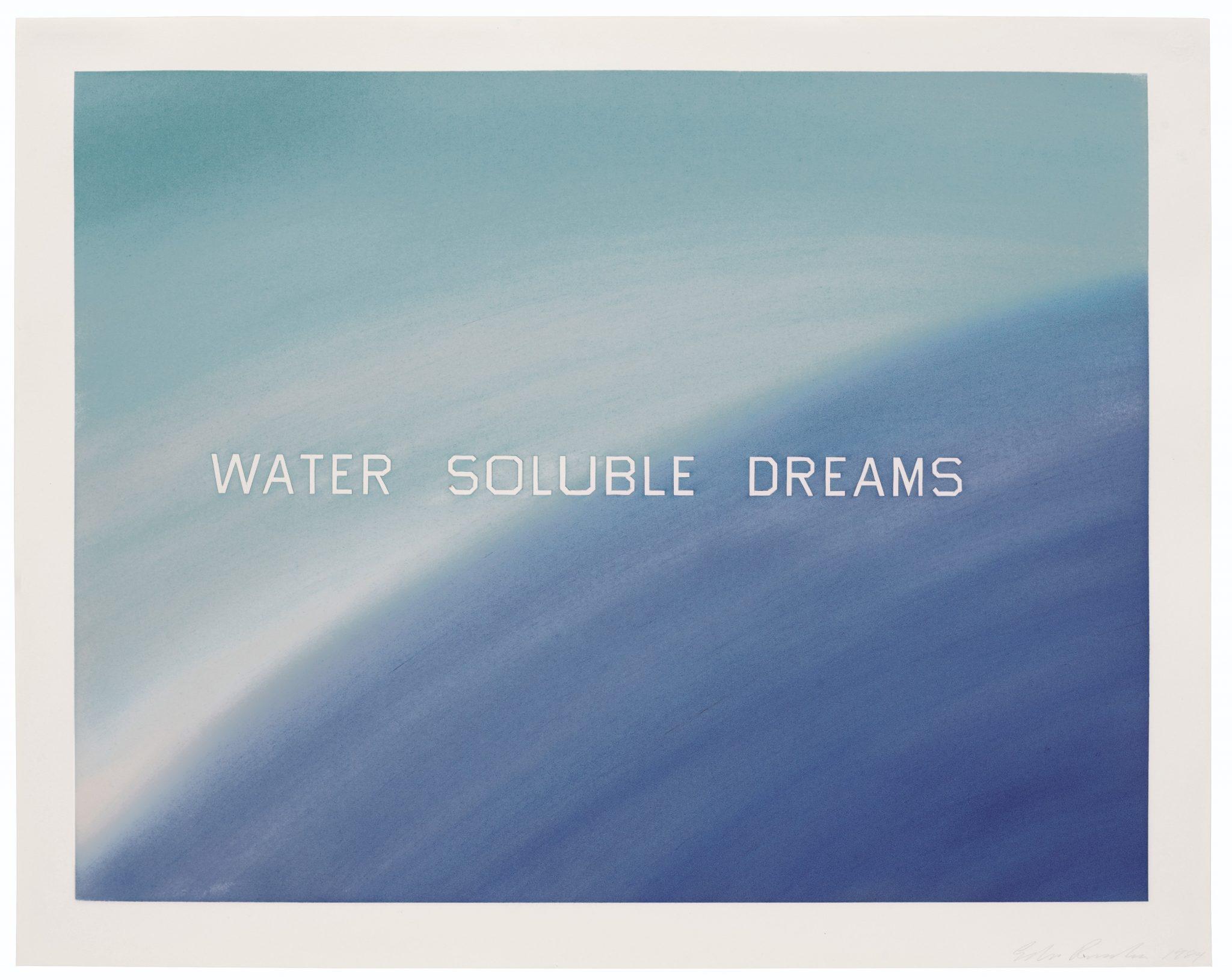 Ed Ruscha Water Soluble Dreams Estimate USD 250,000 - USD 350,000