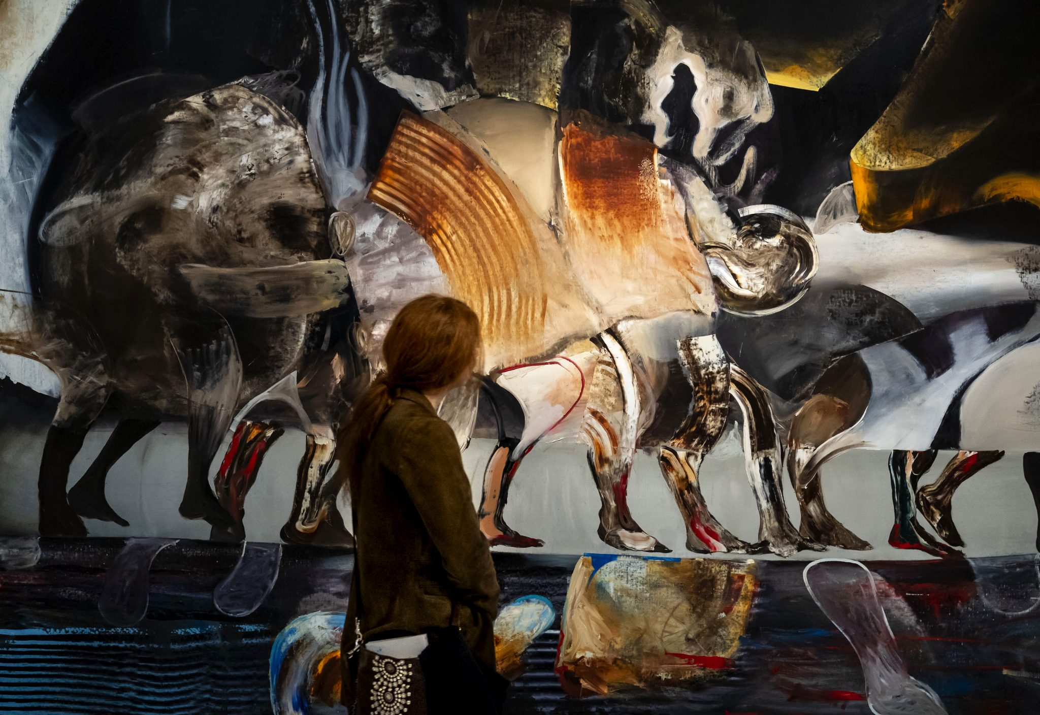 The Raft, Adrian Ghenie, 2019. Courtesy Galerie Thaddaeus Ropac, London · Paris · Salzburg. Foto: Matteo De Fina
