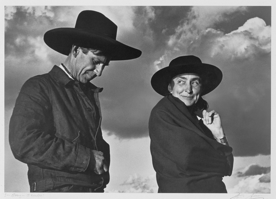 Georgia O'Keeffe and Orville Cox, 1937Photography by Ansel Adams, Courtesy of The Georgia O'Keeffe Foundation, © The Ansel Adams Publishing Rights Trust