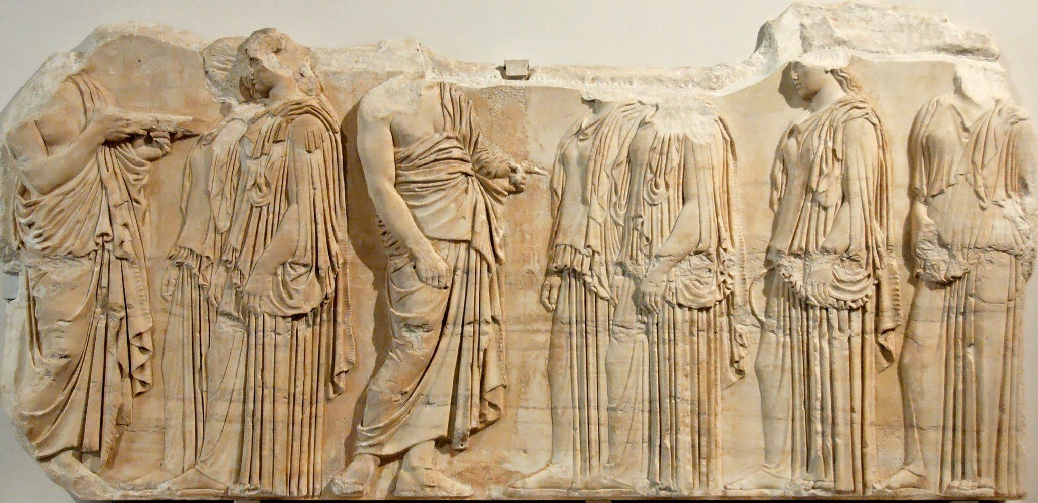 Il fregio in marmo che sarà prestato dal Louvre