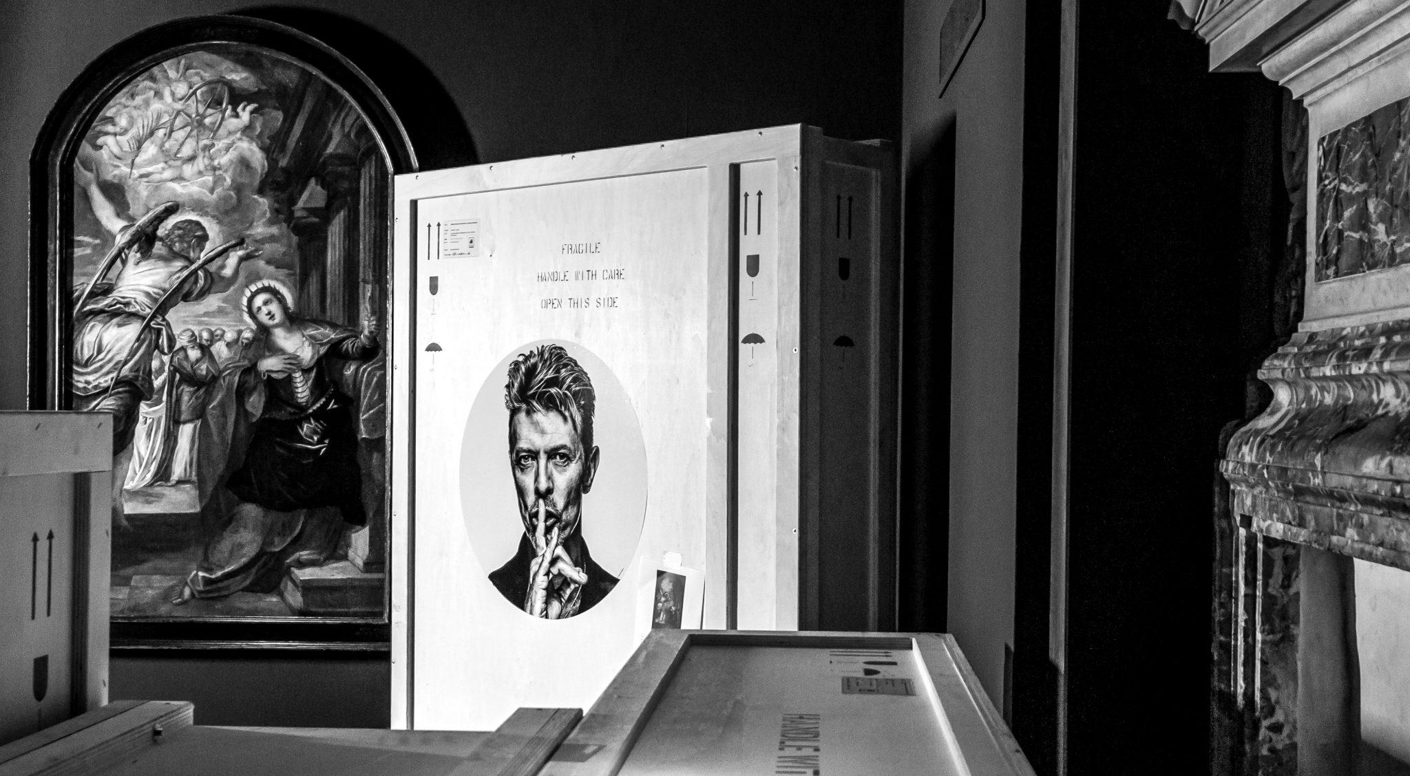 """L'arrivo a Venezia de """"L'angelo annuncia il martirio a Santa Caterina d'Alessandria"""" di Tintoretto, già nella collezione di Bowie (Andrea Avezzù Photography)"""