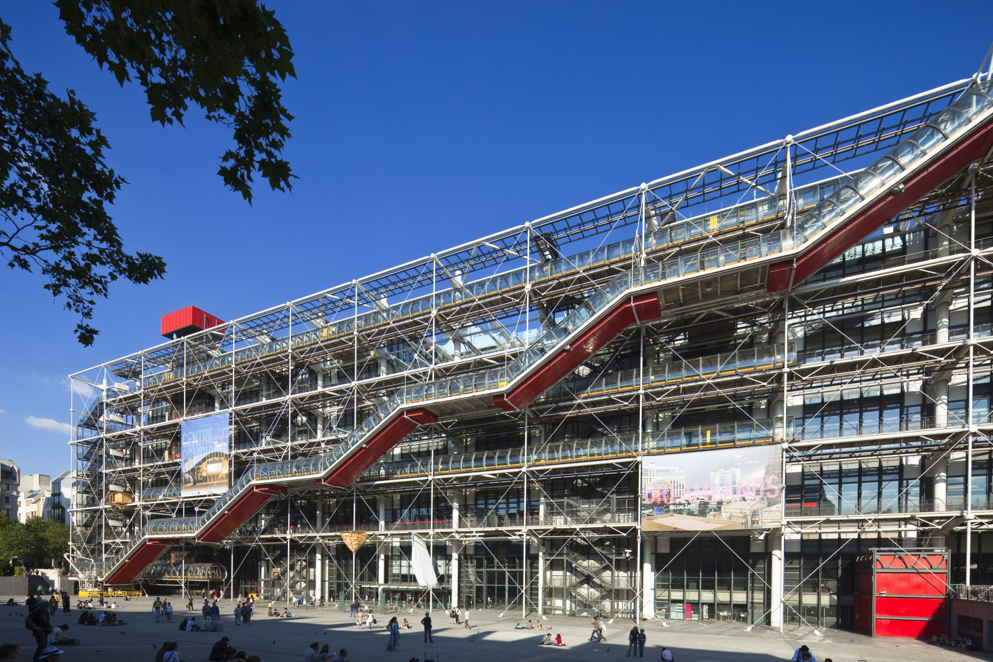 La scala mobile del Centre Pompidou