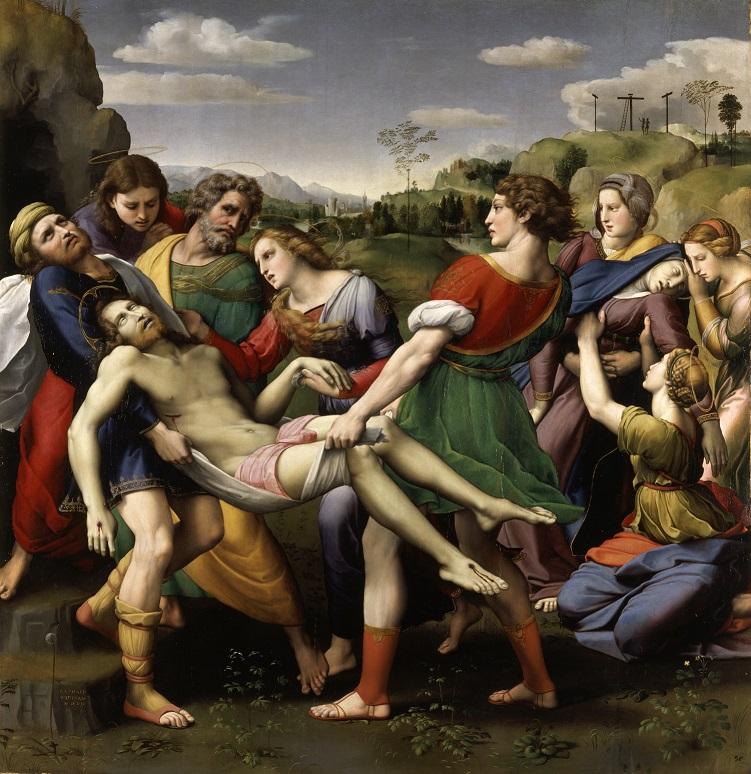 Raffaello Sanzio, Deposizione, 1507, olio su tavola, 179 x 174 cm, Galleria Borghese © Ministero per i beni e le attività culturali - Galleria Borghese