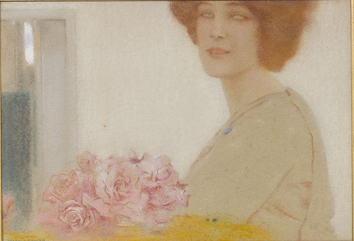 Fernand Khnopff, Le Rose, 1912, pastello su carta