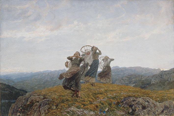 Luigi Rossi, Il canto dell'aurora 1910-1912, Olio su tela 125.7 x 187.5 cm, MASI Lugano, Collezione Città di Lugano