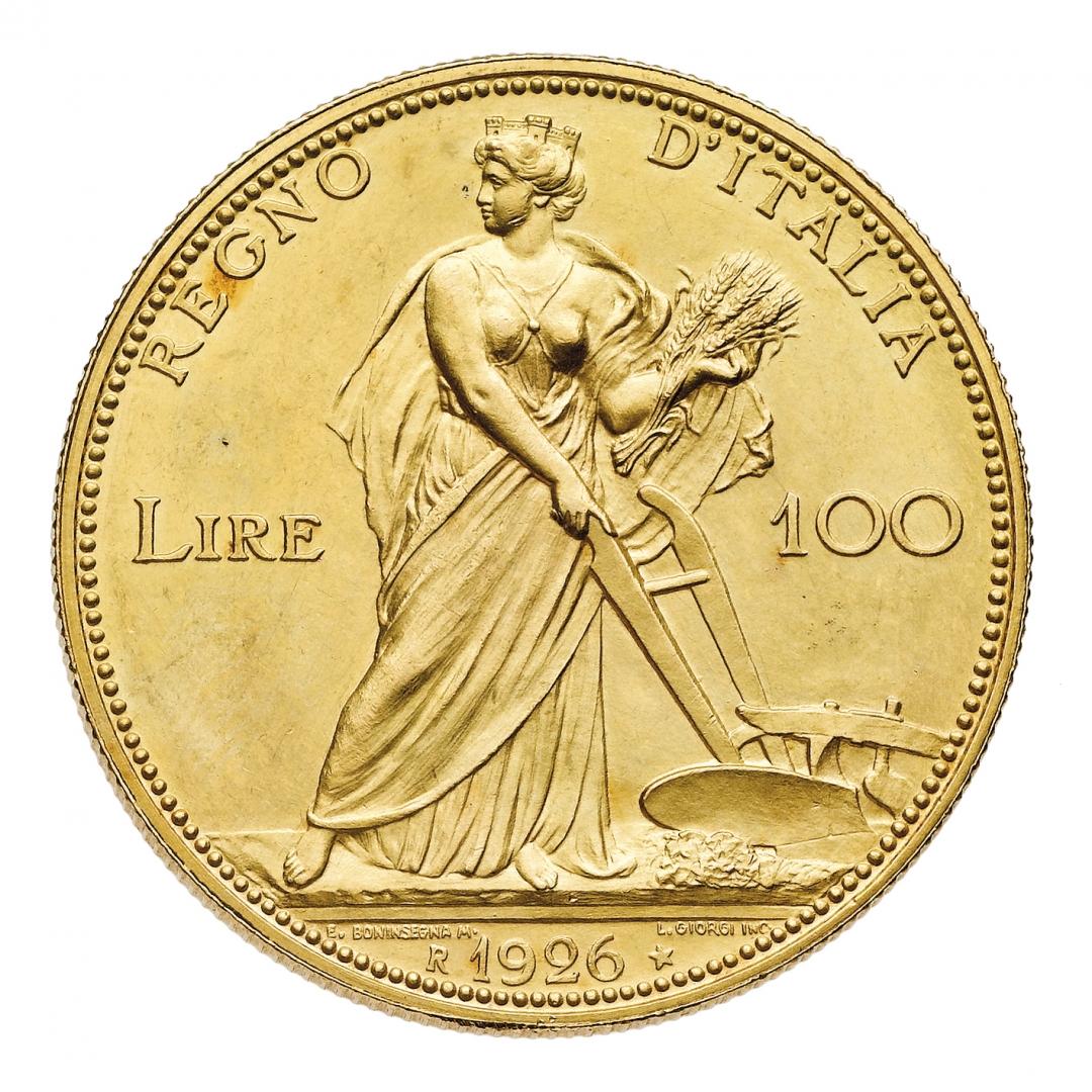 L'Italia rurale da 100 lire del 1926, battura per 85.400 euro